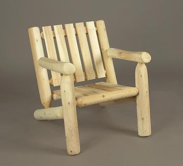 white cedar log furniture