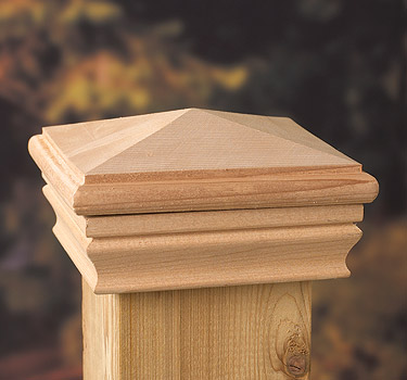 fence post toppers 4x4 newport high pyramid post cap 3725
